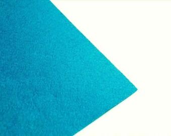 Sheet of felt 1 mm - A4 size - blue Turquoise - DIVFEU16BTU842