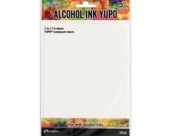 Alcohol Ink Yupo Translucent 10PC, by Tim Holtz (TAC49722) - PA080