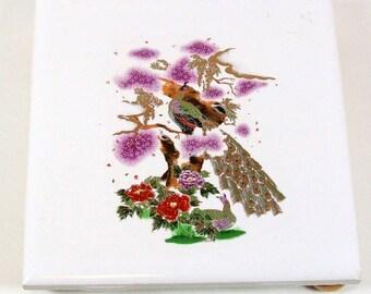 Handmade Ceramic Coaster / Asian Decor / Teabag Holder /  Tile Coaster / Ceramic Spoon Rest / Drink Coaster / Wine Coaster