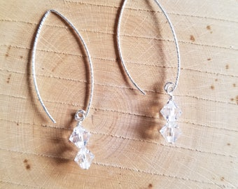 Sterling Silver Earwire with Swarovski Crystal