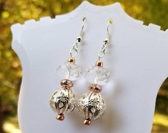 Sparkling Crystal Rondelle Earrings