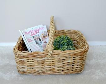 Great old market basket, vintage, wicker and rattan basket