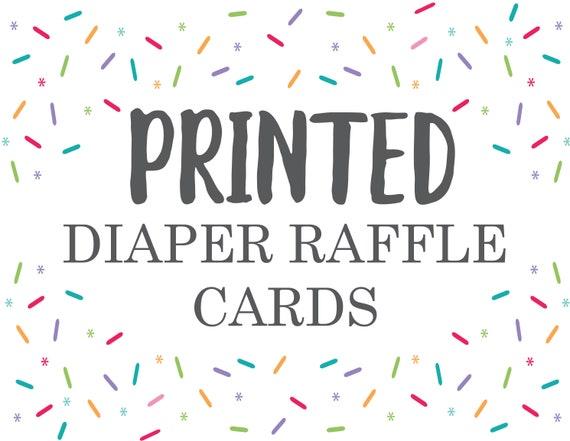 Diaper Raffle Professional Printing Service