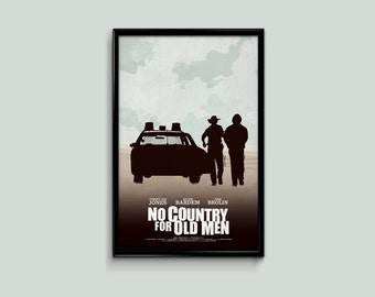 No Country For Old Men 11 x 17 Minimalist Movie Poster