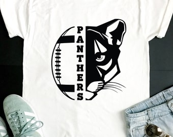 Panthers SVG, Football SVG, Panthers Football T-shirt Design, Football Mom Shirt, Cricut Cut Files, Silhouette Cut Files, SVG Cutting Files