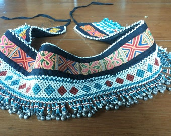 Tribal belly dance belt, tribal fusion belt, belly dance costume, kuchi belt