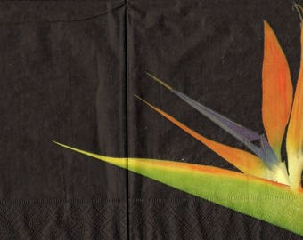 BIRDS of paradise 1 lunch size paper towel 395