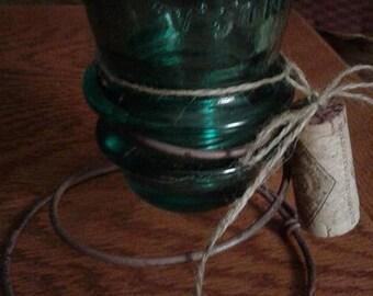 Antique Spring Insulator Candle Holder