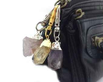 Raw Crystal Key Chain Womens Boho Gifts Her Womens Gifts Under 15 Best Socking Stuffer For Women Stocking Filler For Wife Keychain Clip