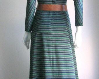 70s vtg  mod long party dress