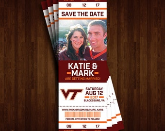 Virginia Tech Save the Date Tickets