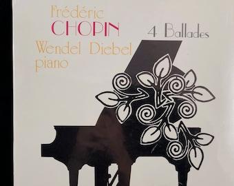 Frederic Chopin 4 Ballades Wendel Diebel piano Mint Condition sealed Elite Label Circa 1977