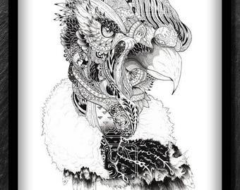 The Andean Condor//Mandanimals//A3//Limited edition of 50 specimens//designed by cadu_88