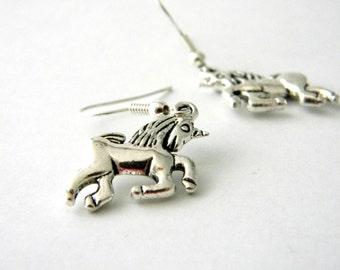 Unicorn Earrings Silver Color Dangle Earrings