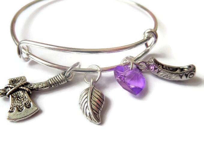 pocohontas bangle, pocohontas bracelet, princess bangle, princess jewelery, just around the river bend, princess gift, princess party favors
