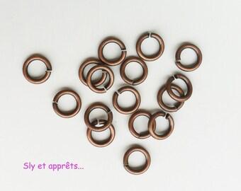 40 rings open brass 7mm