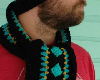 Men's Beanie with matching Scarf, Jaguars