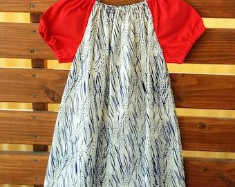 Girls Peasant Style Dress. Meadow Hyacinths . Size 5.