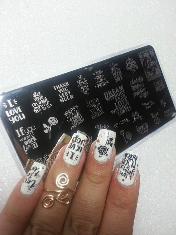 Nail Art Stamping Letters Design Theme DIY Manicure Image Plate ...