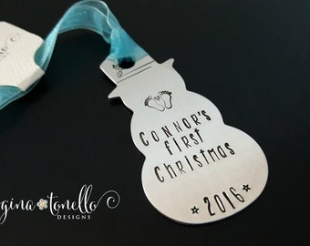 Baby's First Christmas Ornament, Personalized Ornament, Customized Baby Gift, Engraved Baby Gift, Personalized Baby Shower Gift