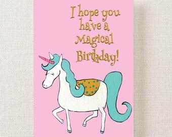I Hope You Have a Magical Birthday-Unicorn Card