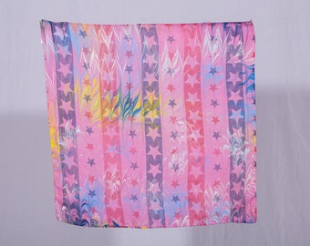 Hand painted cotton scarf
