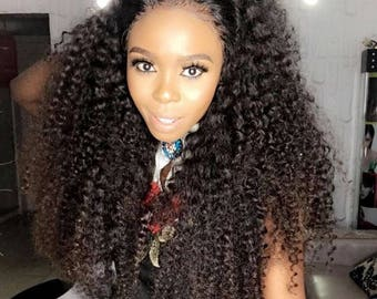 Rose Hair Extension Virgin luxury Hair, 24 inches, Black, Curly Hairstyle, 300 grams