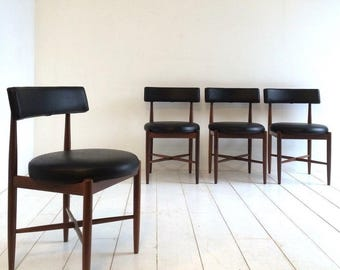 Vintage G Plan Dining Chairs - 1960s / 1970s Danish Influence Retro
