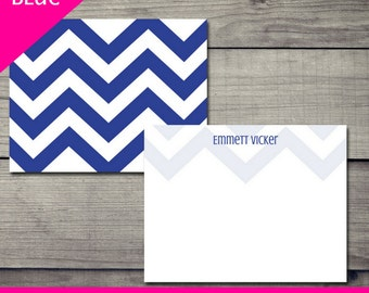 Chevron It Up Stationery - Blue - DIGITAL DOWNLOAD ONLY