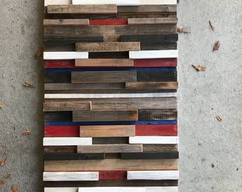 RWB Rustic Reclaimed wood Art panel