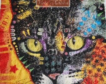 Cat cross stitch kit, Cat II (deaexl138290) by Dean Russo - modern counted cross stitch kit