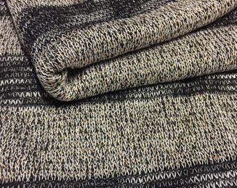 Sweater Knit Fabric Gold Speckled Design 1-1/2 Yards