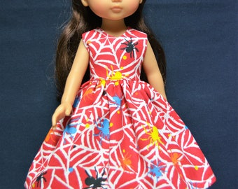 "Handmade Doll Clothes Dress fits 13"" Corolle Les Cheries Dolls Handcraft Halloween 1"