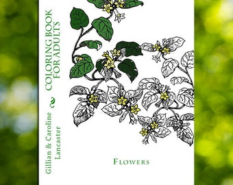 Flower Coloring Book Download - Printable Coloring Book for Adults - Adult Coloring Book - Flowers