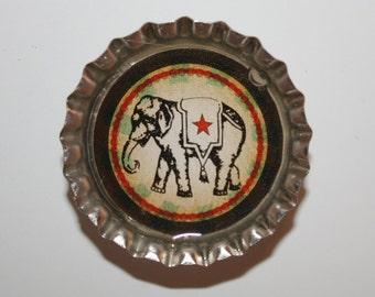Unique vintage gift circus bottle cap magnets set refrigerator fridge kitchen elephant