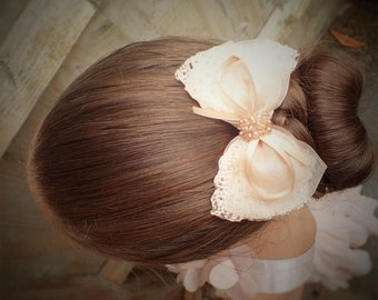 Girls hair bows beige hair bows girls bows pink hair bow girls hair accessories girls hair clips girl hair bows bow hair clip bows for girls