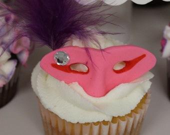 Masquerade theme cupcake toppers