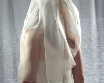 Organza Veil, Wedding Veil, Organza Bridal Veil