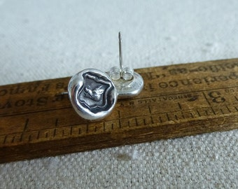 Warrior Wax Seal Earrings - Boar - 106EAR