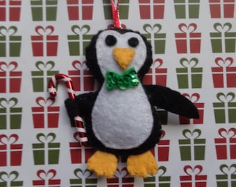 Christmas Penguin Ornament by Pepperland