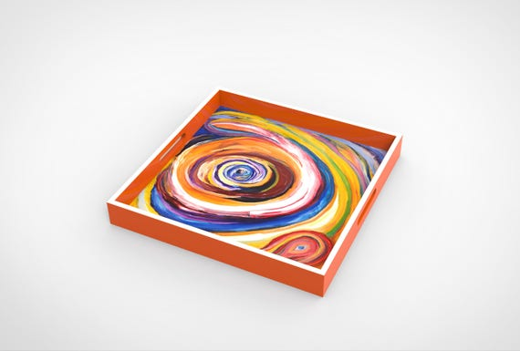 """Lacquer Tray print by """"Bruce Mishell"""" tirled: """"Eye On You"""""""
