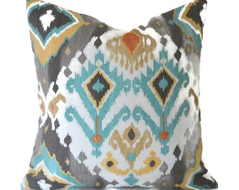 Indoor Outdoor Pillow Covers ANY SIZE Decorative Pillows Outdoor Pillow Cover Ikat Pillows Outdoor Cushion Mill Creek Outdoor Lavezzi Tahoe
