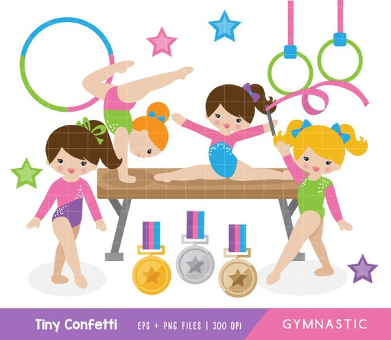 gymnastic clipart girl gymnasts clipart girl gymnastic clip rh etsy com gymnastics clip art silhouette gymnastic clipart