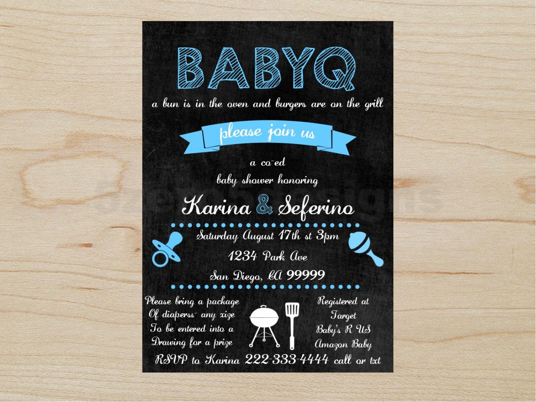 BabyQ Invitation Baby shower boy BabyQ boy babyq shower