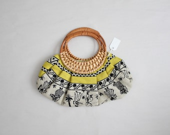 ethnic wool handbag / souvenir bag / 1960s purse