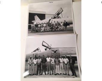 Lot of 2 Convair General Dynamics Photo Op Photographs 8x10