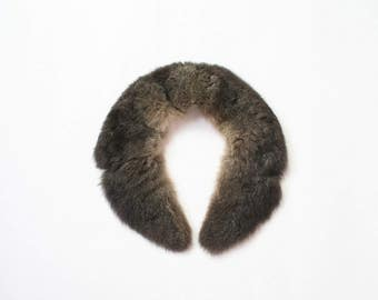1970s Fox Fur Collar 1960s Silver Blue Brown Authentic Fur Wrap Scarf 60s Boho Glam Winter 1960s Starlet Stole 70s Big Soft Furry Collar