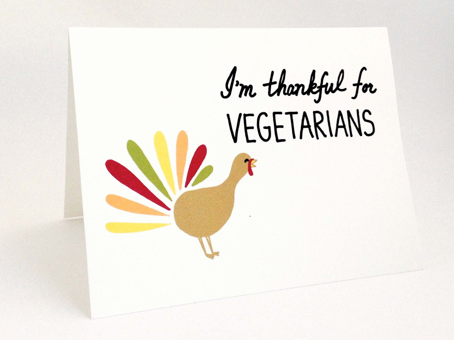 Funny Thanksgiving Card Cute Turkey Card Happy