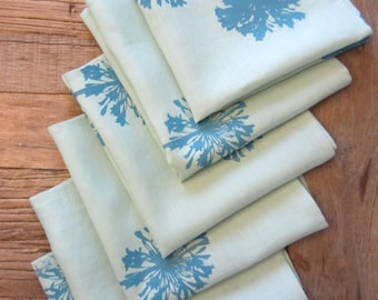 Hand Dyed and Silk Screened Napkins (set of 6)