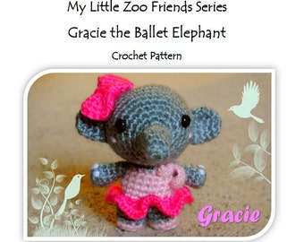 MyLittleZooFriends Series - Gracie Elephant (PDF Pattern)